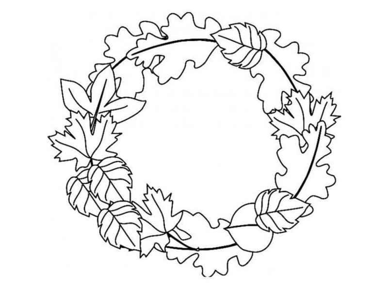 раскраски осенние листья бесплатно распечатать скачать