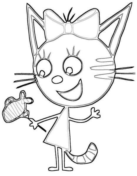раскраски три кота бесплатно распечатать скачать картинки