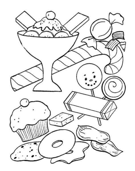 раскраски сладости бесплатно распечатать скачать картинки
