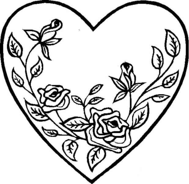раскраски сердечки бесплатно распечатать скачать картинки
