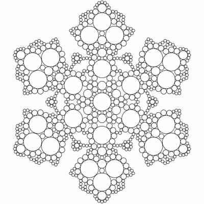 Антистресс снежинка