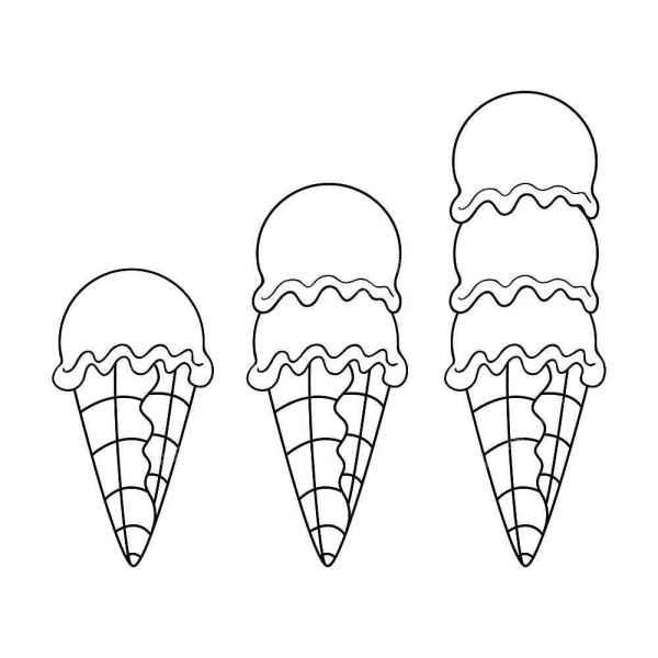 раскраски мороженое бесплатно распечатать скачать