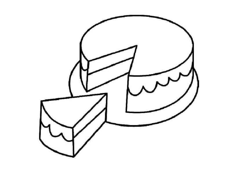 раскраски торт бесплатно распечатать скачать картинки для