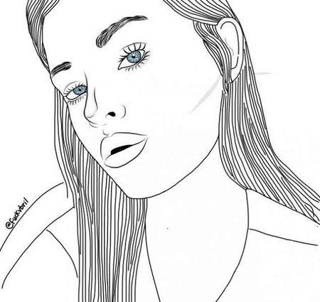 раскраски девушки 230 рисунков карандашом легкие