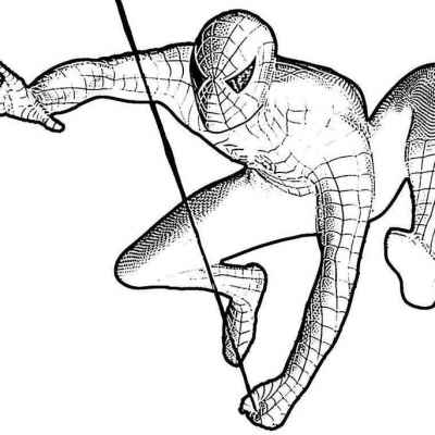 Человек Паук для срисовки 8 лет