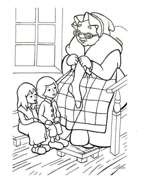 Кай и герда с бабушкой