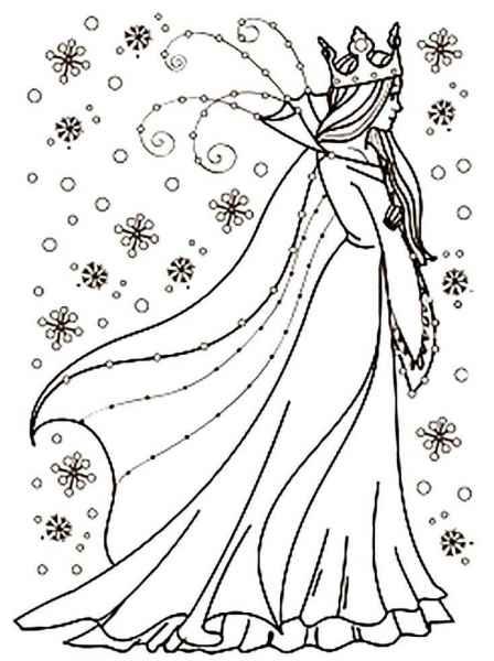 Красивая снежная королева