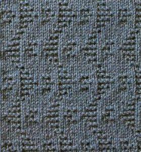 Плотный узор спицами № 11