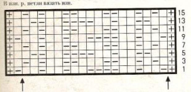 Плотный узор спицами № 14