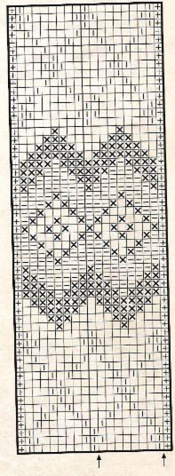 Жаккардовый узор спицами № 26