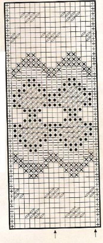 Жаккардовый узор спицами № 27