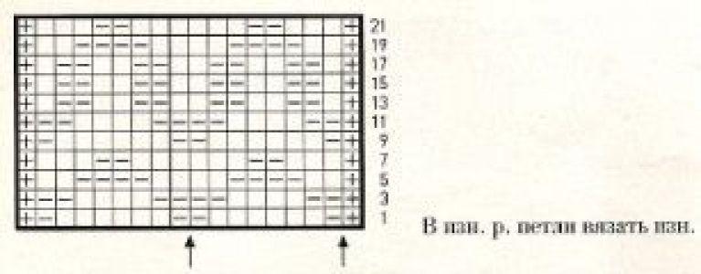 Плотный узор спицами № 31