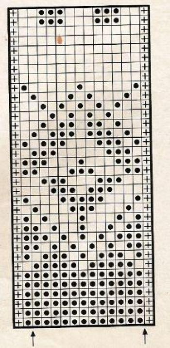 Жаккардовый узор спицами № 34