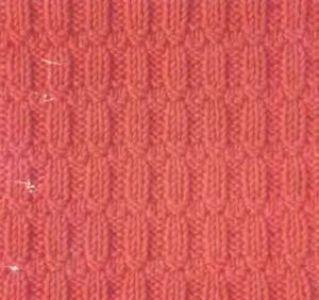 Рельефный узор спицами Линии с узлом