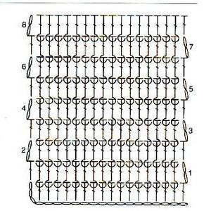 Ажурный узор крючком 54
