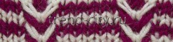 Многоцветный узор спицами № 2