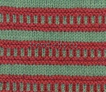 Многоцветный узор спицами № 6