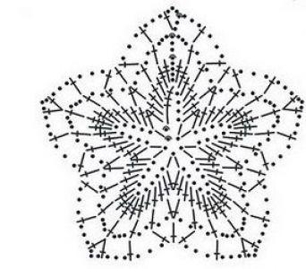 Схема: Мотив крючком 5