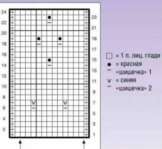 Объемный узор спицами - 9