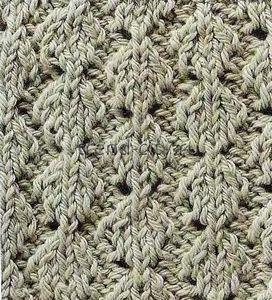 Объемный узор спицами - Выпуклая вязка