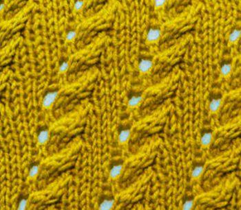 Ажурный узор спицами № 115