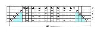Ажурный узор спицами № 136