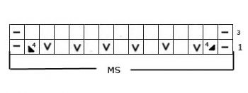 Ажурный узор спицами № 146