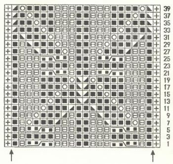 Ажурный узор спицами № 151