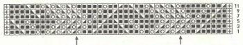 Ажурный узор спицами № 155