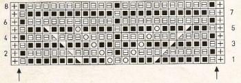Ажурный узор спицами № 162