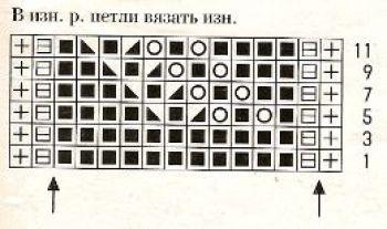 Ажурный узор спицами № 165