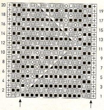 Ажурный узор спицами № 166