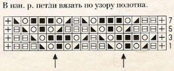 Ажурный узор спицами № 167
