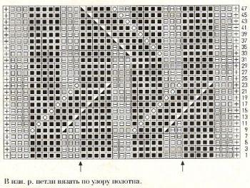 Ажурный узор спицами № 184