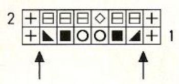 Ажурный узор спицами № 186