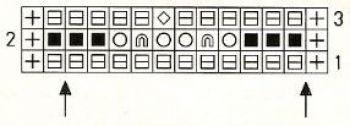 Ажурный узор спицами № 188