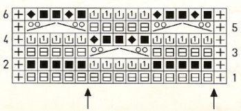 Ажурный узор спицами № 189