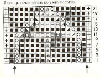 Ажурный узор спицами № 198