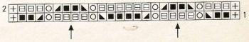 Ажурный узор спицами № 203