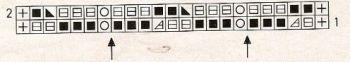 Ажурный узор спицами № 207