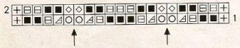 Ажурный узор спицами № 208