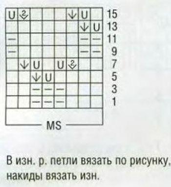 Ажурный узор спицами № 211