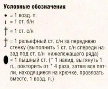Ажурный узор крючком № 11485