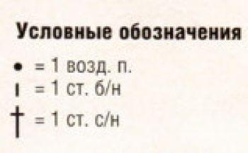 Ажурный узор крючком № 12475