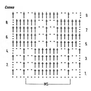 Ажурный узор крючком домино