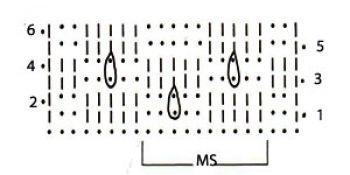 Ажурный узор крючком арочный