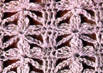 Ажурный узор крючком ромашки