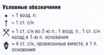 Ажурный узор крючком № 6589