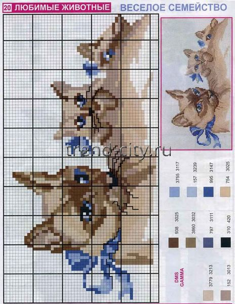 Фото схемы вышивки животные