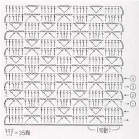Простой узор крючком - 19